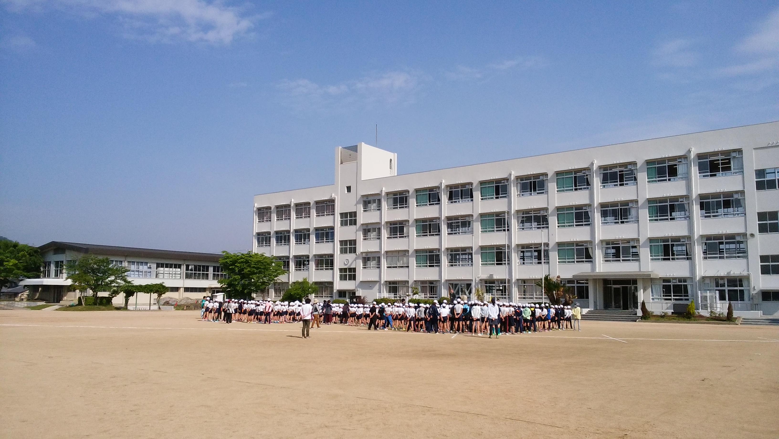 余部小学校 310m